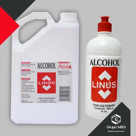 Alcohol Antiseptico 70% Linus Pres. Litro – Galón